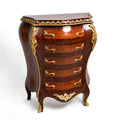 18th Century Rococo Style Bombe-Shaped drawer chest