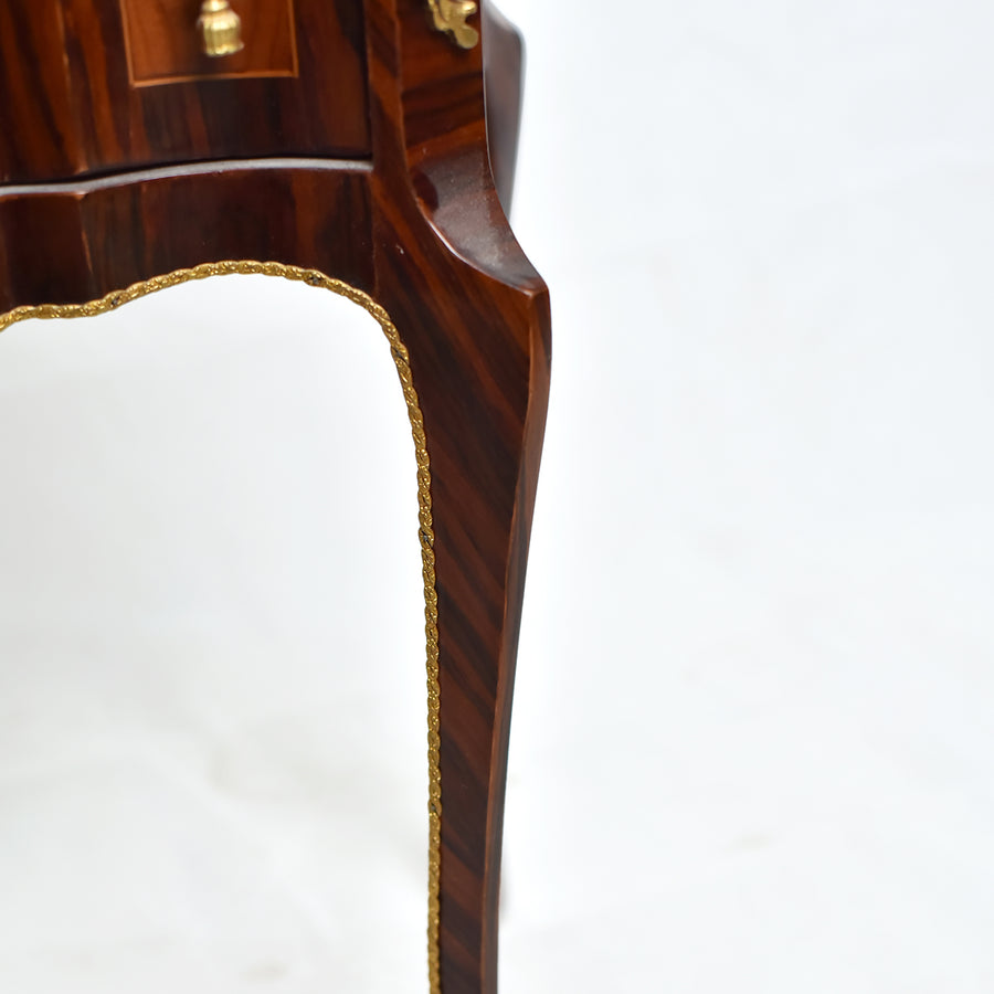 Brown French 18th century style nightstand (2 set)
