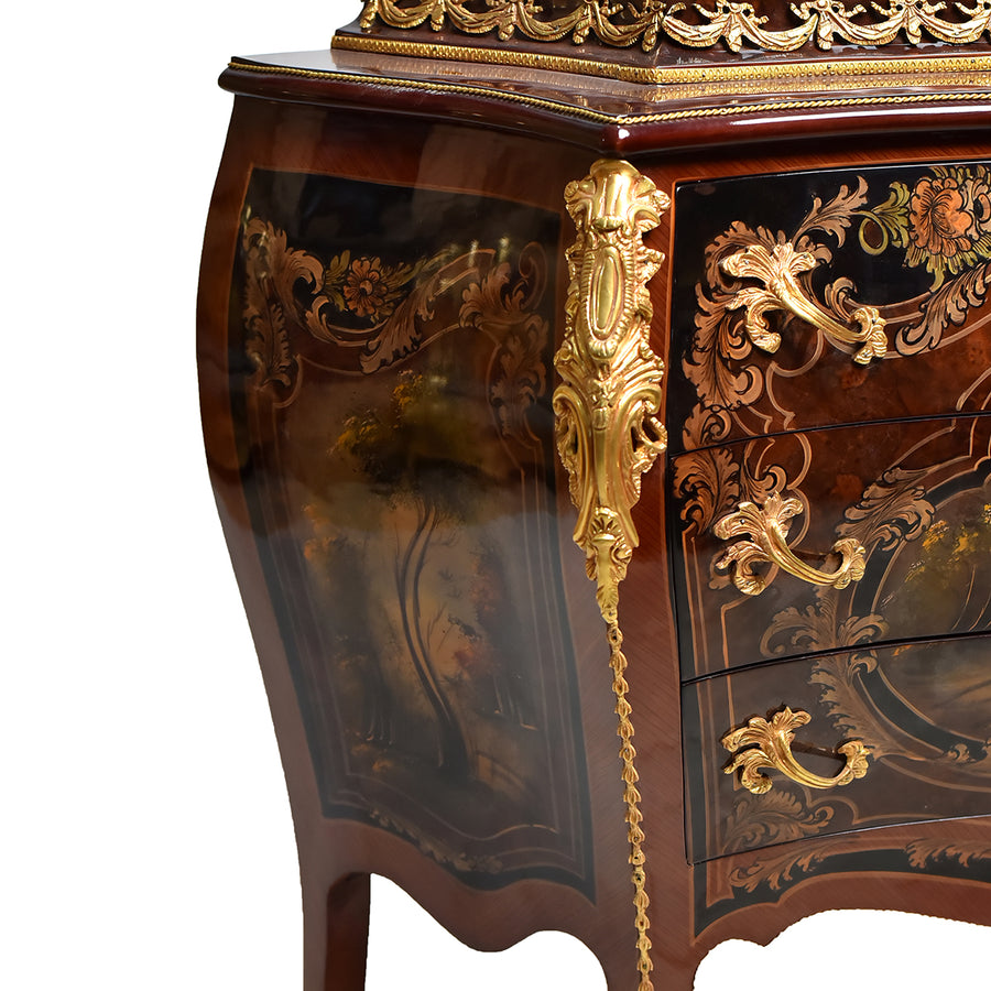 Hand painted Louis XIV chest-drawer