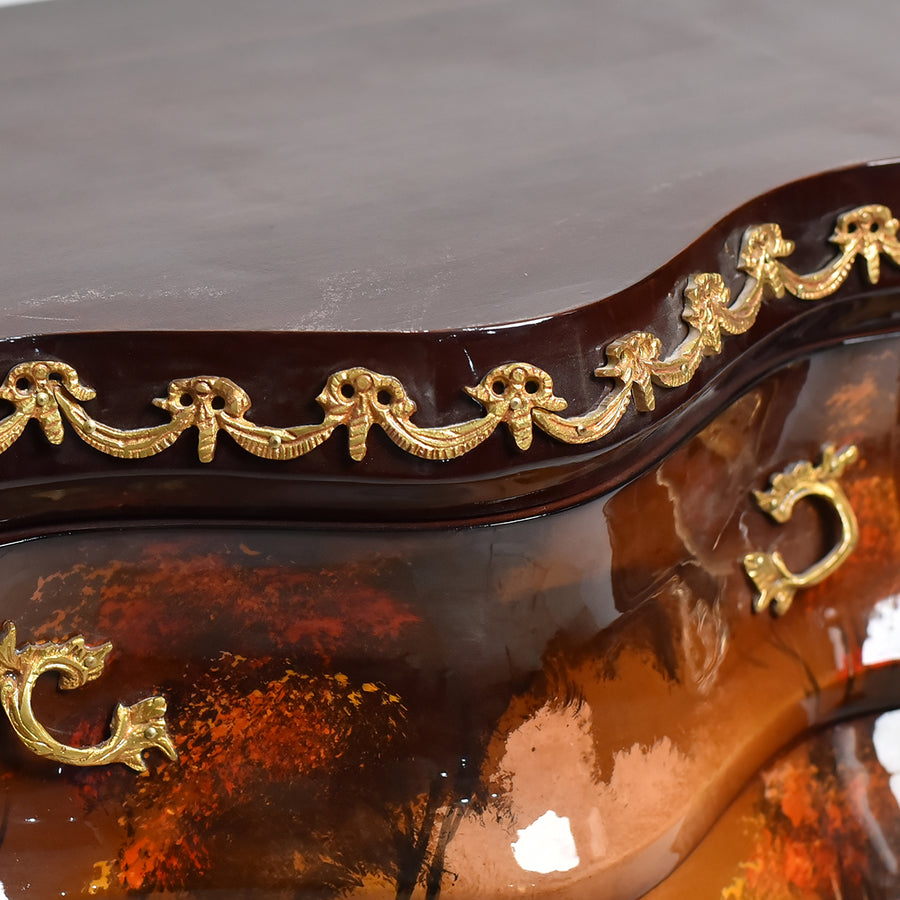 Unique bombe French classicism commode