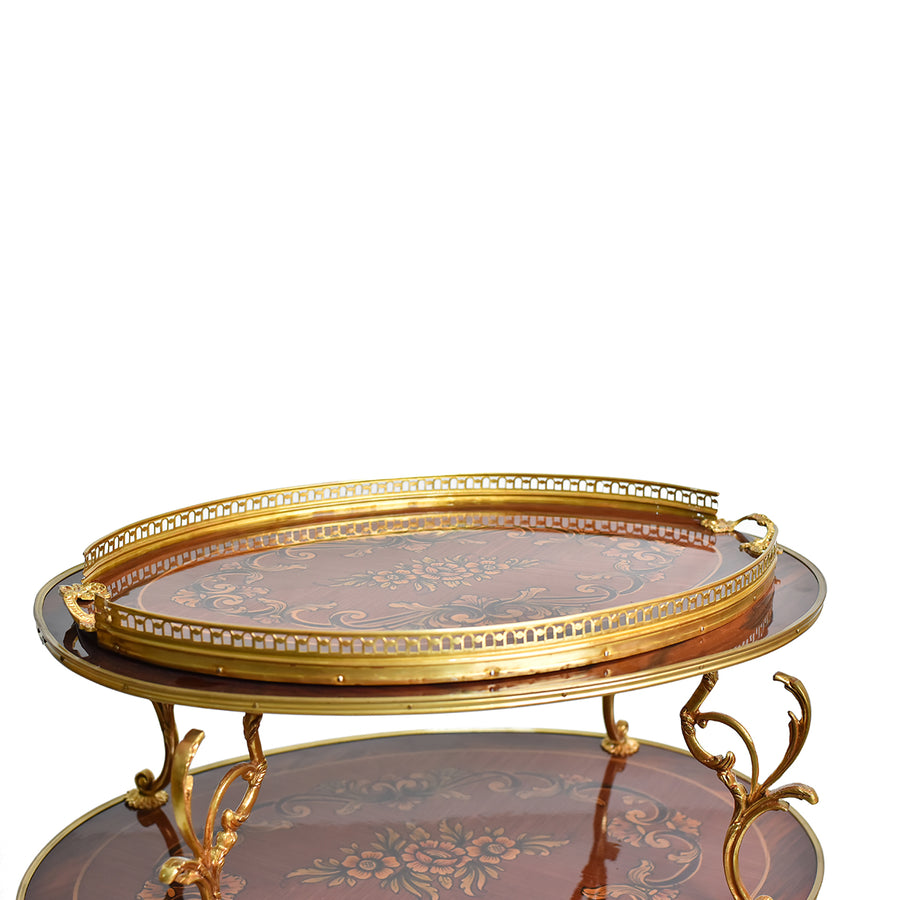 French Louis XV style serving tea cart