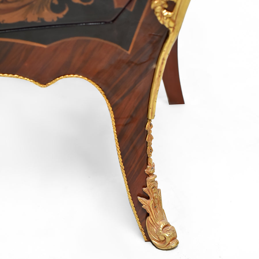 Louis XIV style ormolu mounted bombe commode