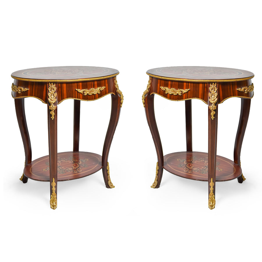 Ormolu mounted Louis XV side round table