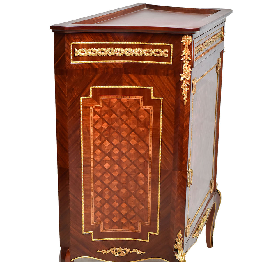 Late 19th century French gilt bronze cabinet