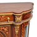 Louis XVI wood/glass marquetry cabinet
