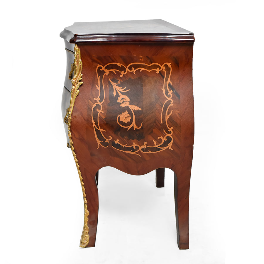 S-shaped Louis XV side nightstand