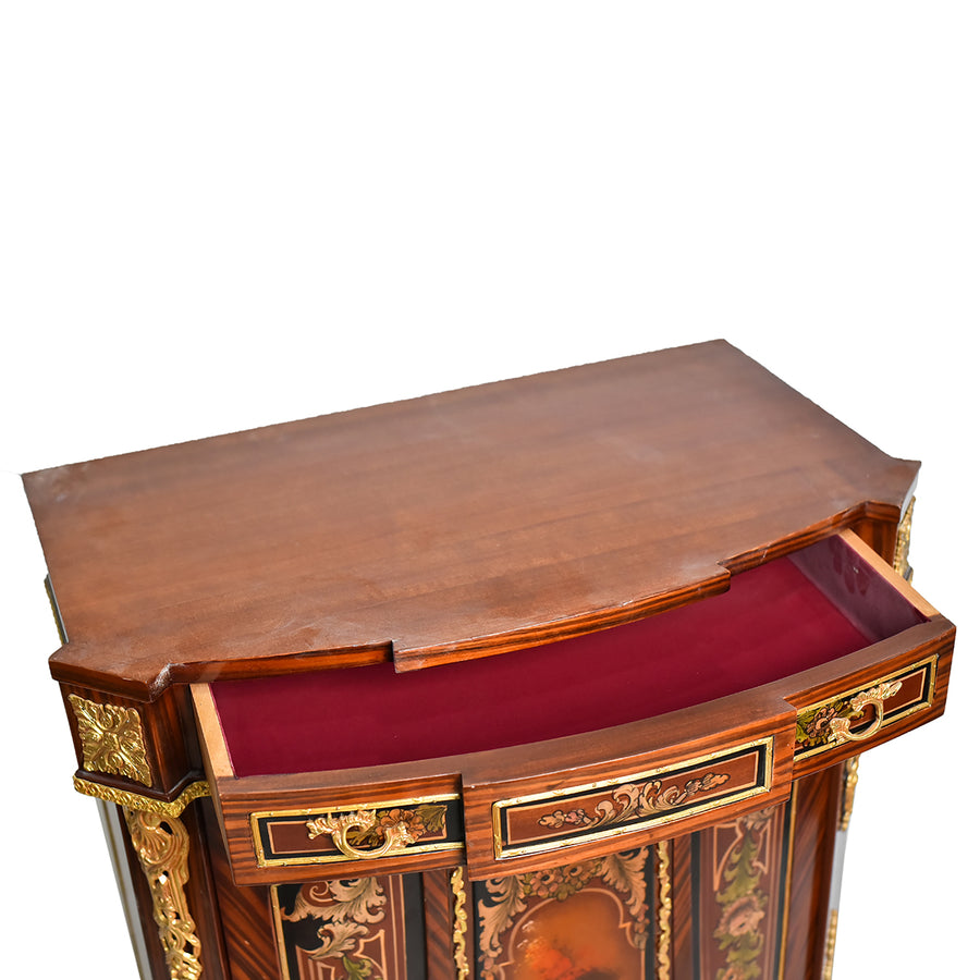 French Napoleon III mounted cabinet