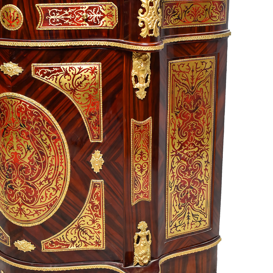 Boulle style brown cabinet