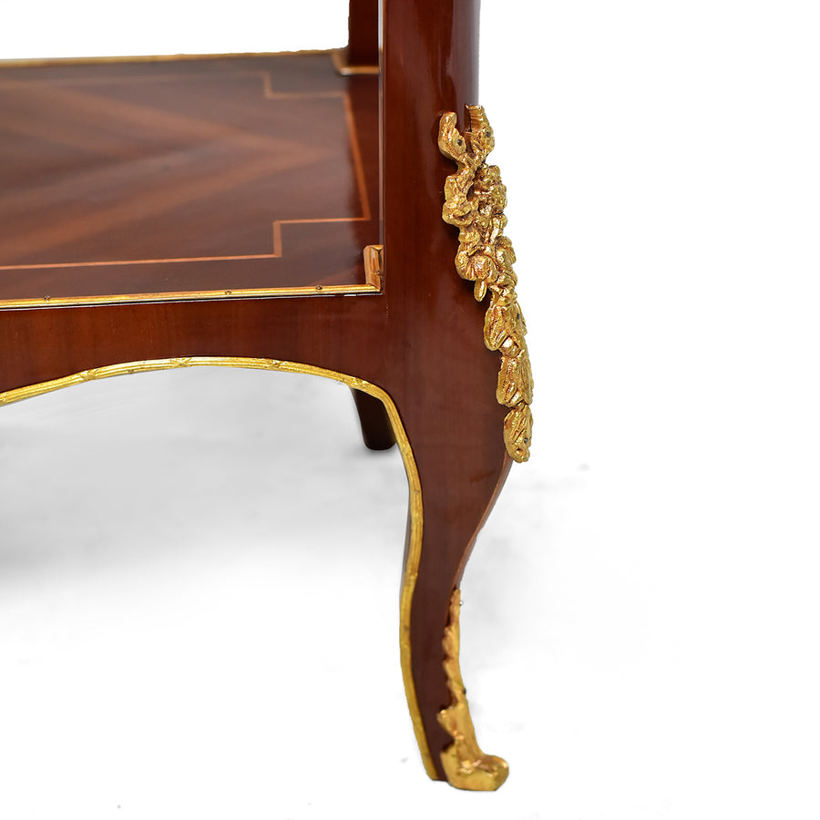 French ormolu mounted Louis XVI style Étagère
