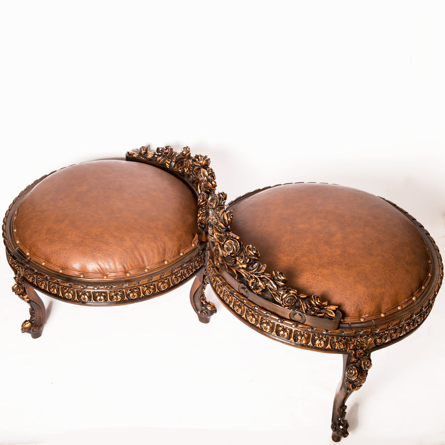 Twin Ottoman – Precision Carving