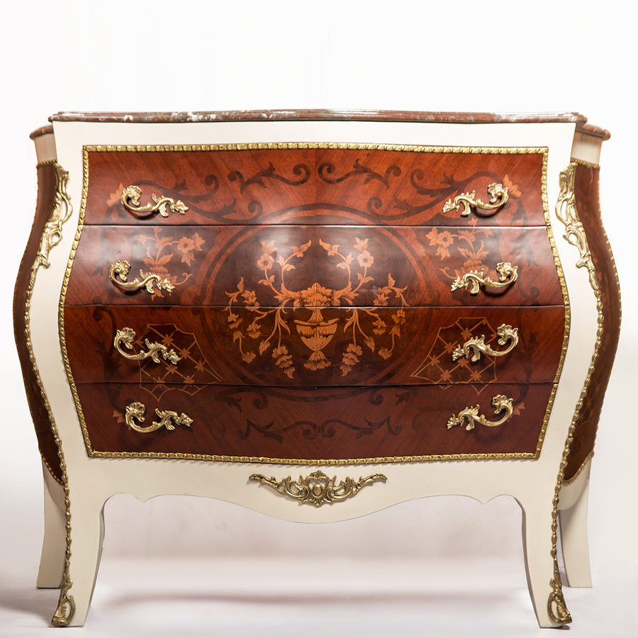 Bombe chest drawer-Rococo style
