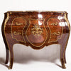 Louis XV Style Marquetry Inlaid Bombe Commode