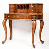 Victorian inlaid secretary desk