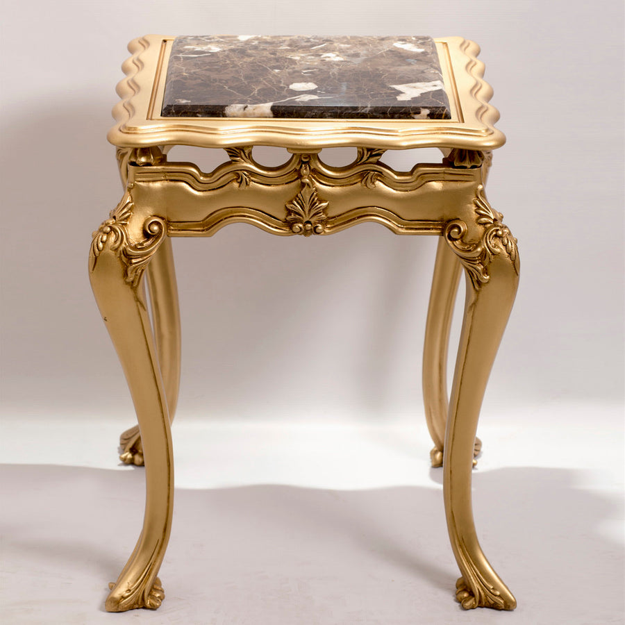 Louis XV Style Gilded Side Table (2-table set)