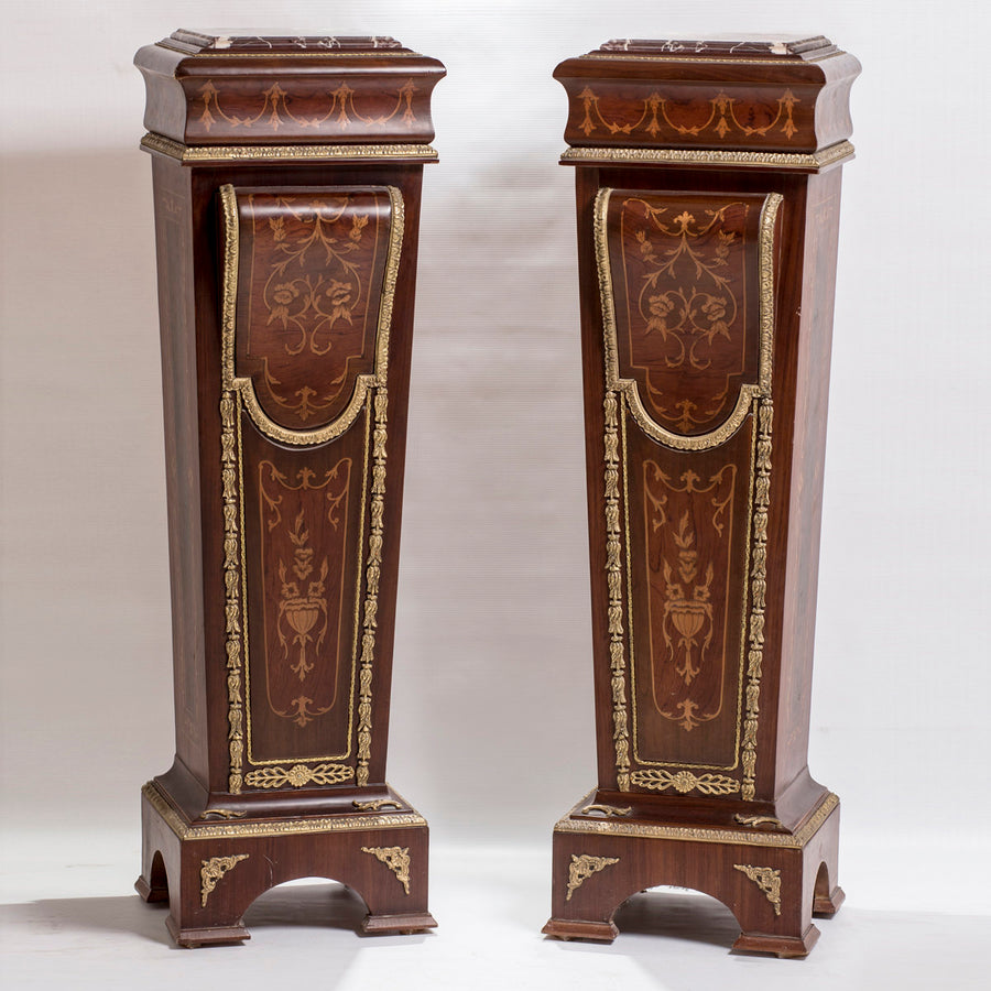 Twin Boulle Pedestals