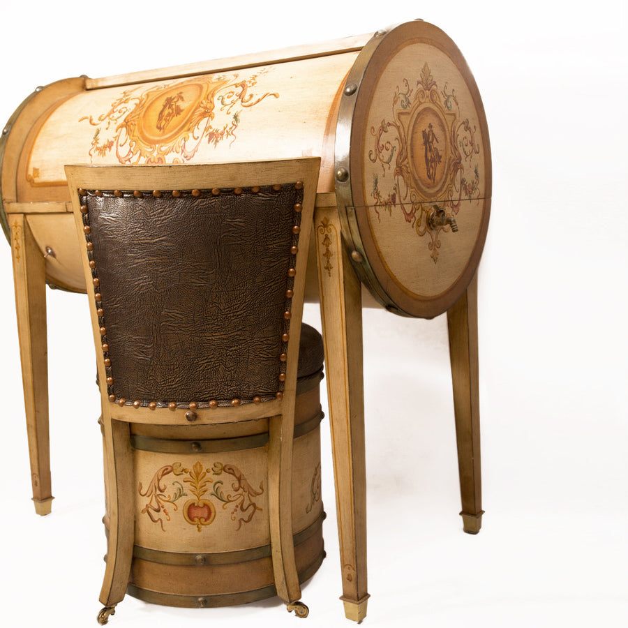 Edwardian Cylinder Desk and Chair