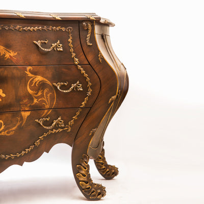 Louis XV Style Chest Drawer with Crackle Top