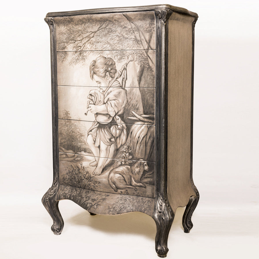 Louis XV Style 5 Drawers Commode - Pearlina Collection (Tall)