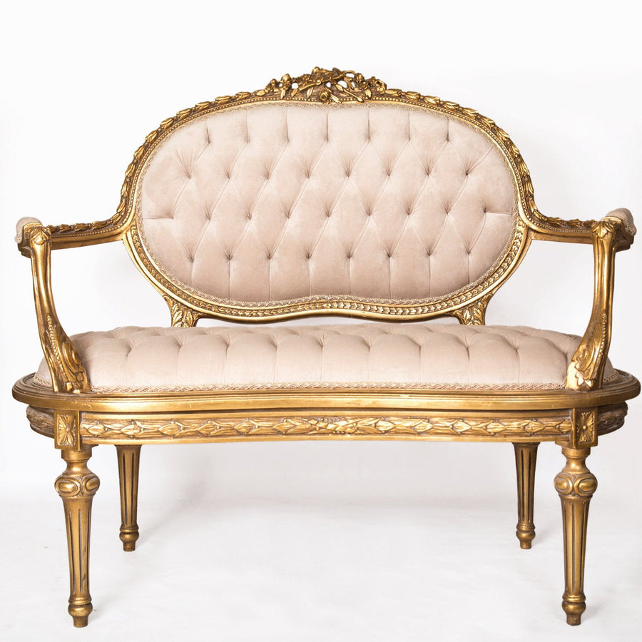 Louis XV Soft Arm Rests Couch- 2 person