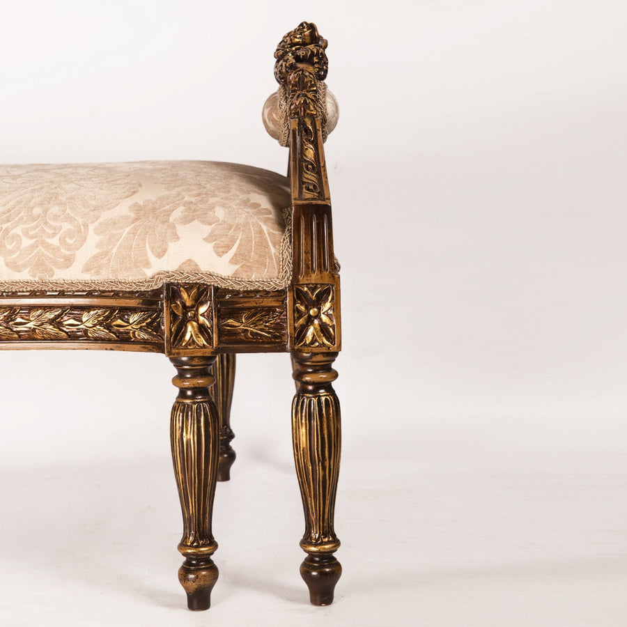 French rococo-style carved bench