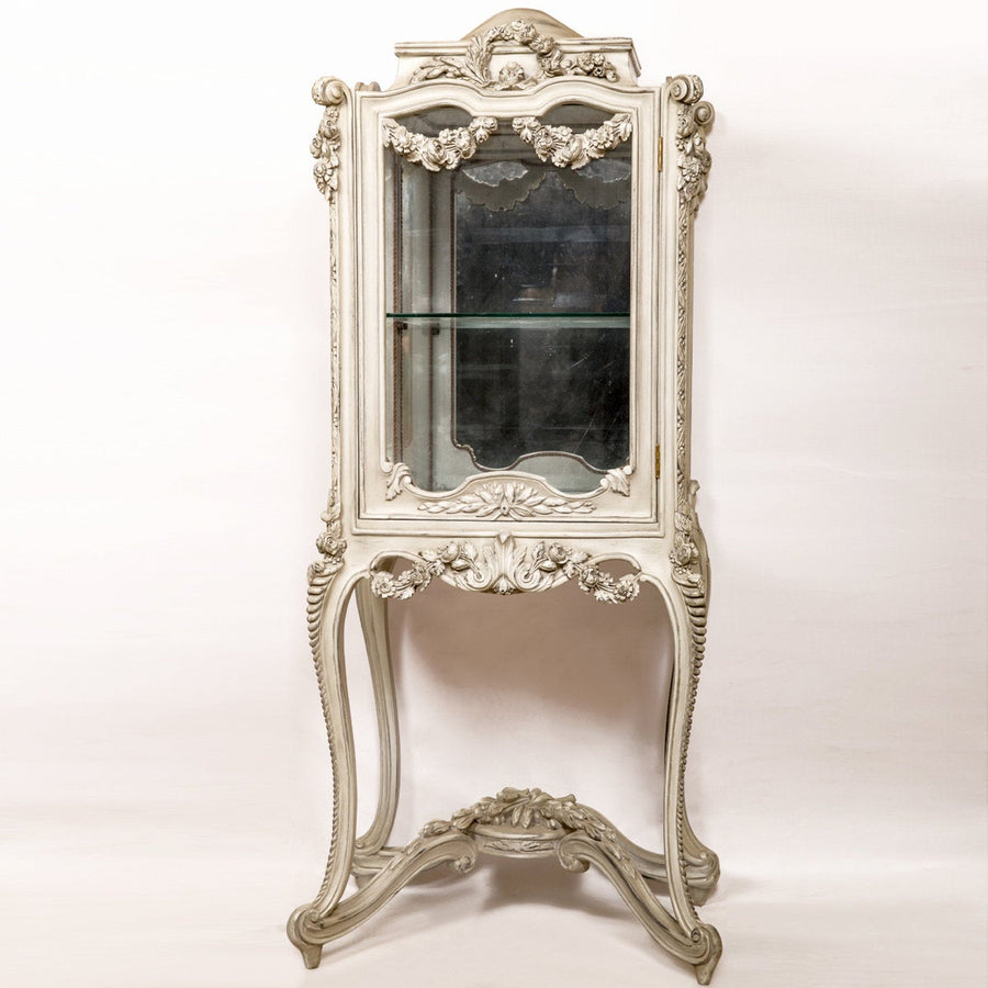 Rococo hand carved french vitrine late 19th century