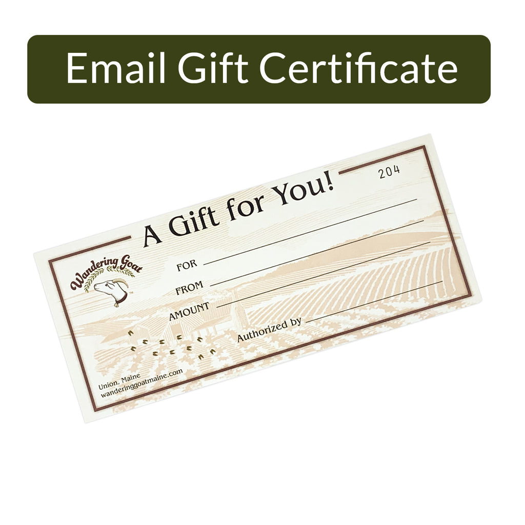 Gift Certificate (Emailed to you)
