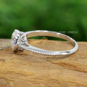 Bezel Set Moissanite Solitaire Ring / 1.50 CT Colorless Round Solitaire Ring in 950 Platinum