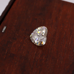 3.11 CT Colorless Heart Loose Moissanite - Certified Loose Moissanite for Jewelry