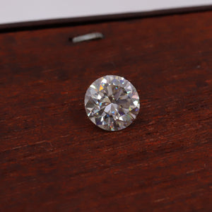 1.51 CT Round Certified Loose Moissanite Stone Vintage Jewelry - Black Friday Sale