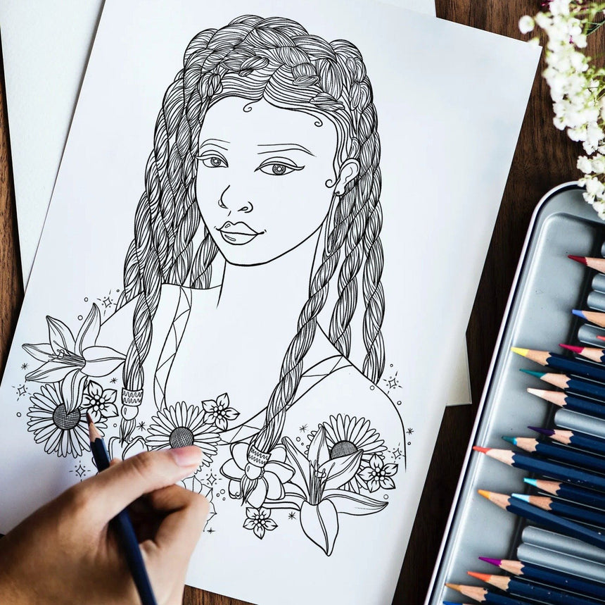 Black Girl Magic Coloring Book Series