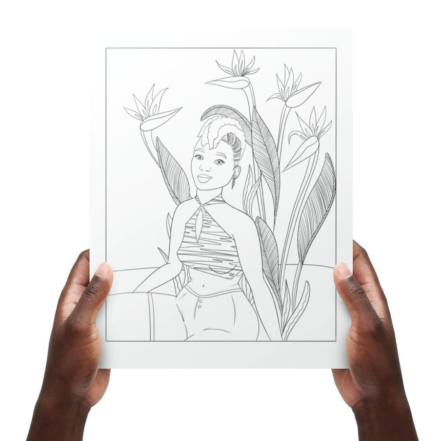 Black Girl Magic Coloring Book Vol. 2: Botanical Beauties Dorothy Gilbert