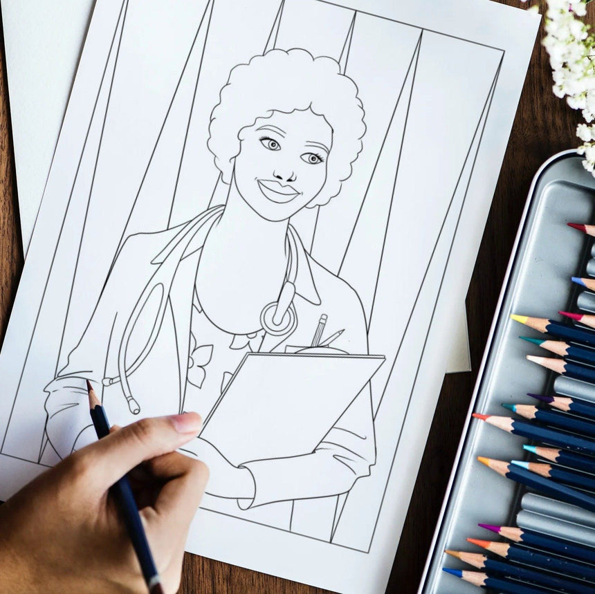 Black Girl Magic Coloring Book Vol. 3: Workin' It Dorothy Gilbert
