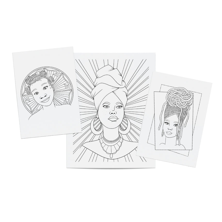 Black Girl Magic Favorites Printable Coloring Pack 1 (PDF) Dorothy Gilbert
