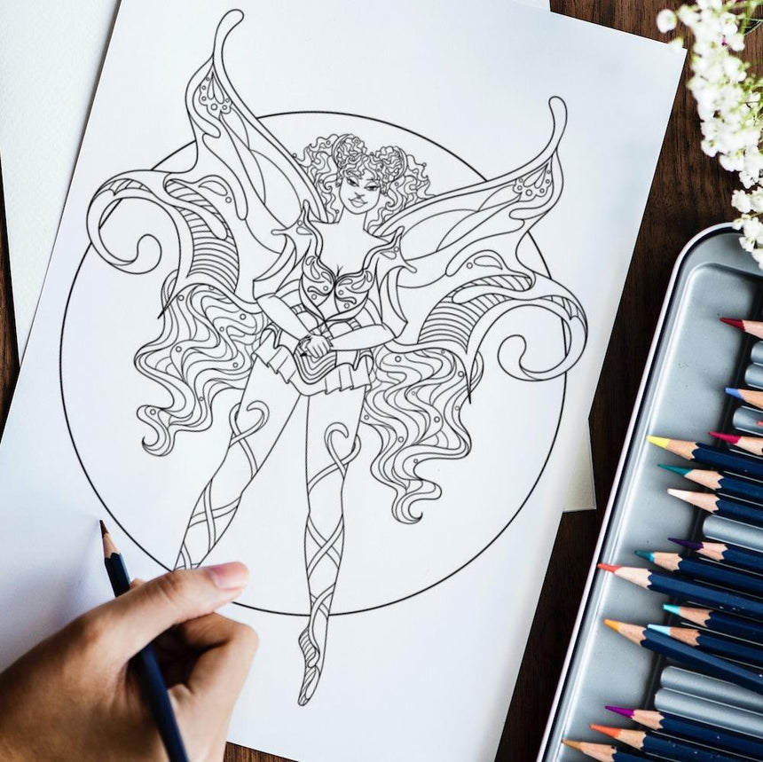 Fierce Fantasy Coloring Book Vol. 1: Fabulous Fairies Dorothy Gilbert