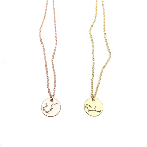 Collier Constellation en Relief