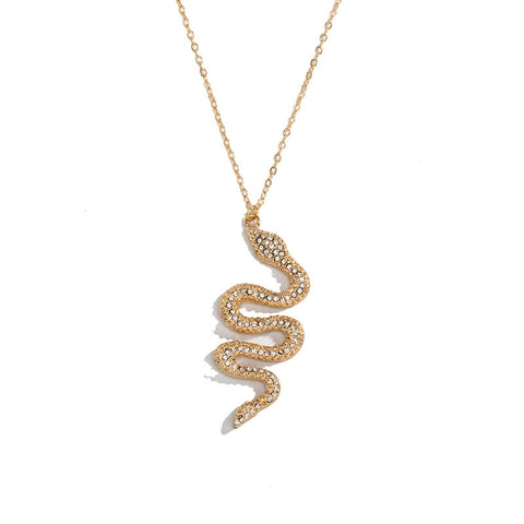 Collier serpent diamants doré medaille signe zodiaque or