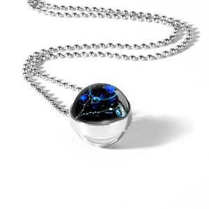 Collier boule de cristal constellation
