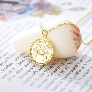 collier signe astrologique cancer medaille astro
