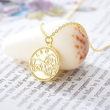 Charger l'image dans la galerie, collier signe astrologique lion or