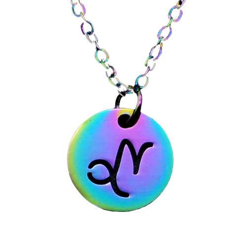 Collier signe zodiaque multicolore