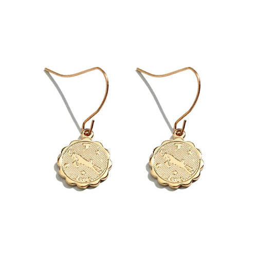 Boucle oreille astrologie Flower sign