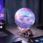 lampe de chevet galaxie multicolore