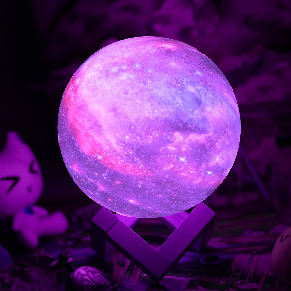 lampe a poser et mini projecteur galaxie multicolore