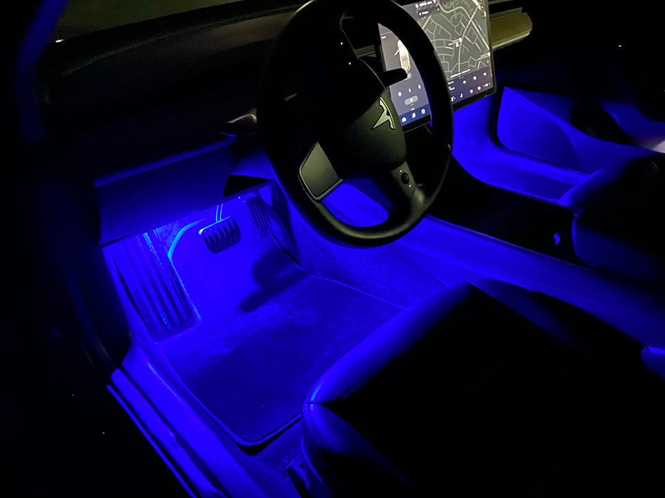 Footwell Lighting Upgrade for Tesla Vehicles - Pair