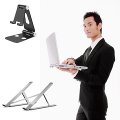 Foldable Laptop Stand | Aluminum Stand for Laptop, Table and Ipad
