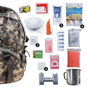 Camo Bug Out Bag/Survival Kit Backpack - The Survival Prep Store