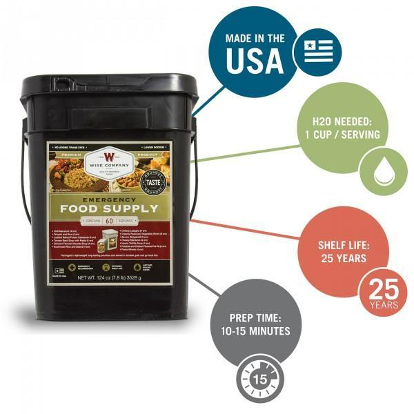 Emergency Survival Disaster Food Supply Dinner - 60 servings - The Survival Prep Store