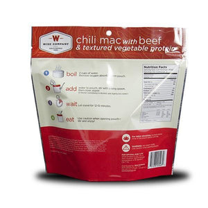 Hearty Chili Mac & Cheese with Beef Camping/Backpacking Food (case of 6) - The Survival Prep Store