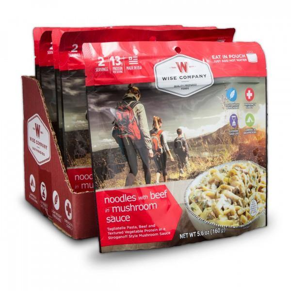 Creamy Beef and Noodles Backpacking/Camping Food (case of 6) - The Survival Prep Store