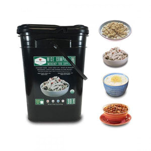 Organic Emergency Food Supply Dinner & Breakfast Bucket - 90 servings - The Survival Prep Store